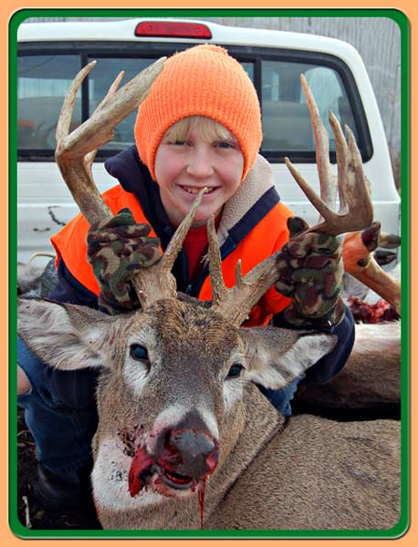 Roger's son and his buck